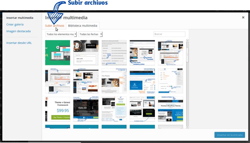 Cómo insertar una imagen en WordPress Paso 2