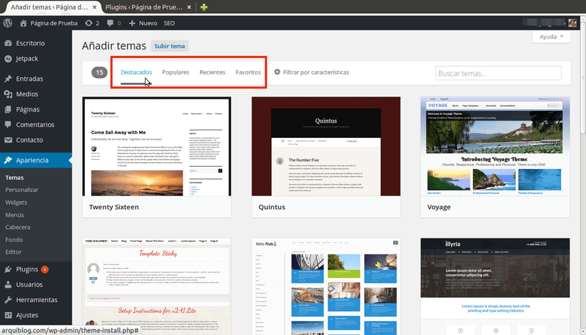 Plantillas para WordPress - Aventura Digital