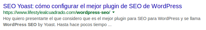 Snipett optimizado SEO