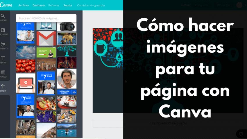 Cómo hacer imágenes para tu página con Canva