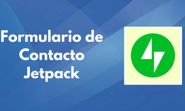 Cómo hacer un formulario de contacto con Jetpack