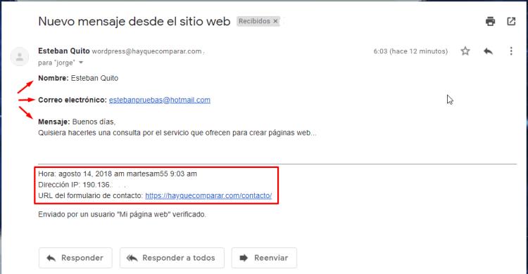 Contenido de email de Jetpack