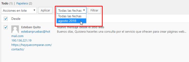 Filtros de los mensajes de formulario en Jetpack
