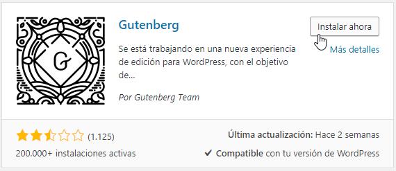 Plugin Gutenberg