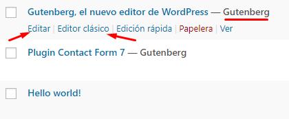 Editar entrada eligiendo editor