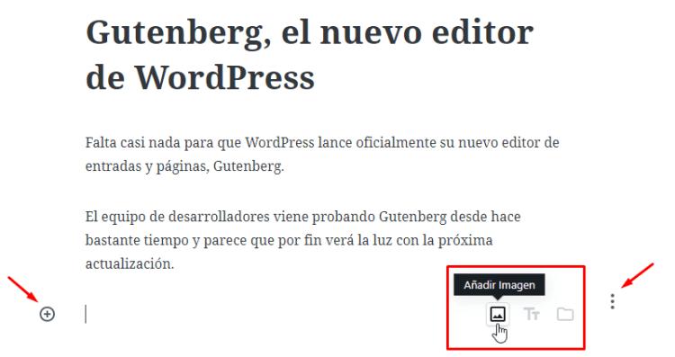 bloque de imagen de Gutenberg