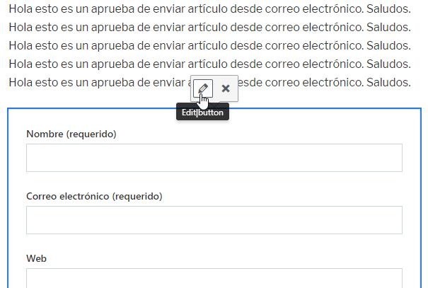 Configurar formulario de Jetpack