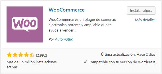 Cómo instalar WooCommerce