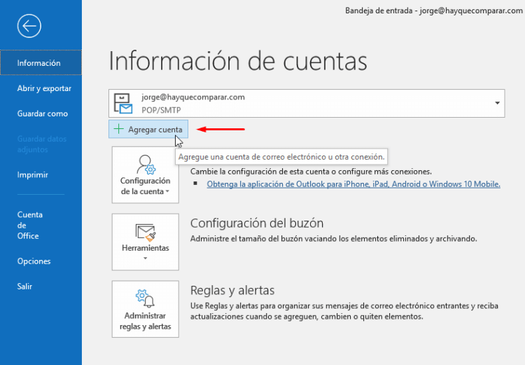 Cómo configurar Outlook