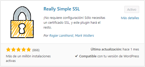 Instalar Really Simple SSL