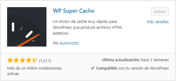 como instalar wp super cache