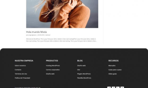 Cómo personalizar el Pie de Página con Divi