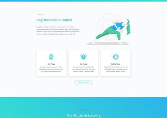 Layout Divi para un Estudio de Yoga