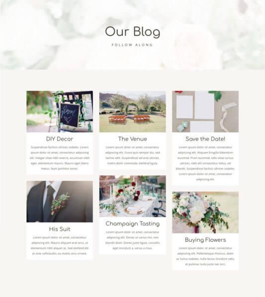 Blog del Layout Divi