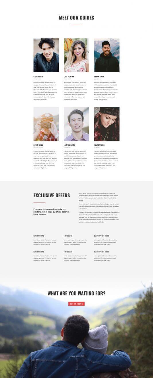 Nuestro Equipo del layout Divi