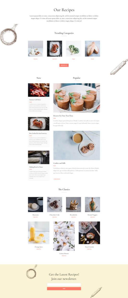 Plantilla WordPress para Recetas de Cocina